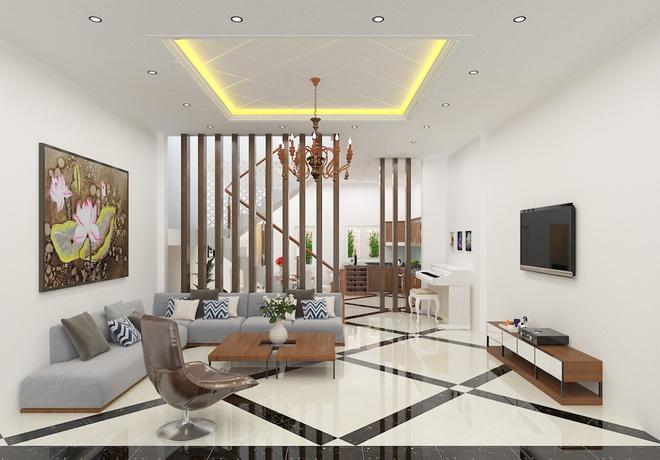 Thiết kế nhà ống 3 tầng có nhiều không gian riêng tư - 01