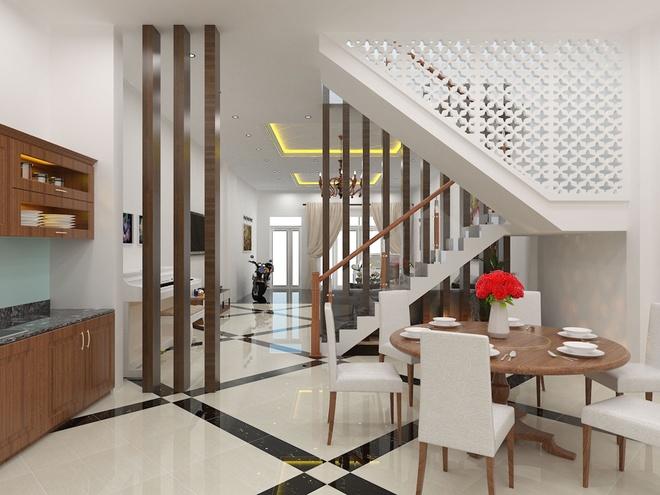 Thiết kế nhà ống 3 tầng có nhiều không gian riêng tư - 02