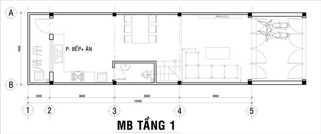 Thiết kế nhà phố 62m2 cao 3 tầng đẹp hiện đại và tinh tế - 01