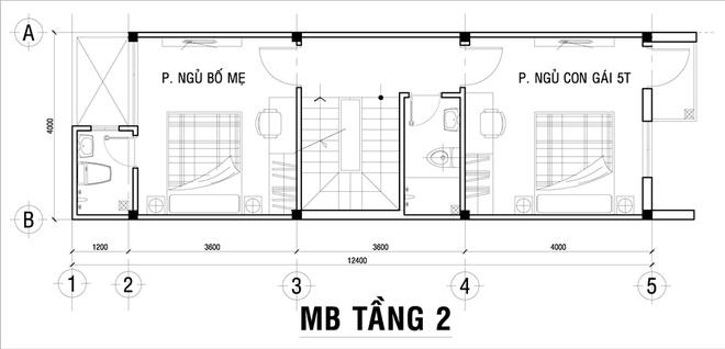 Thiết kế nhà phố 62m2 cao 3 tầng đẹp hiện đại và tinh tế - 02