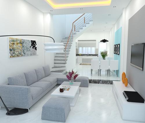 Thiết kế nhà phố 62m2 cao 3 tầng đẹp hiện đại và tinh tế