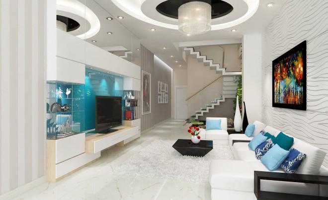 Thiết kế nhà ống hiện đại 4 tầng cho gia đình 3 thế hệ - 01