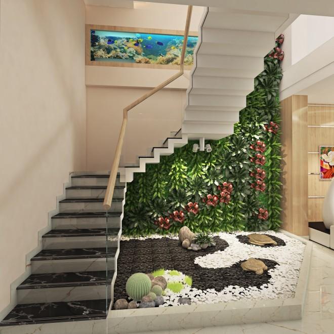Thiết kế nhà ống hiện đại 4 tầng cho gia đình 3 thế hệ - 02