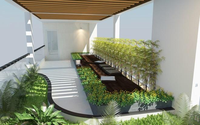Thiết kế nhà ống hiện đại 4 tầng cho gia đình 3 thế hệ - 07