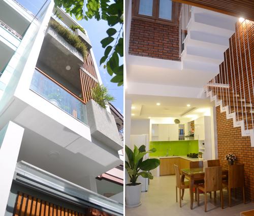 Mẫu thiết kế nhà phố 45m2 đẹp tinh tế trong ngõ hẹp ở Nha Trang