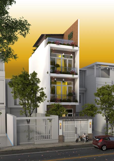 Thiết kế nhà phố diện tích 51m2 với những không gian riêng biệt - 01