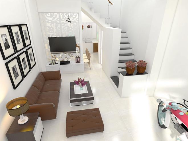 Thiết kế nhà phố diện tích 51m2 với những không gian riêng biệt - 02