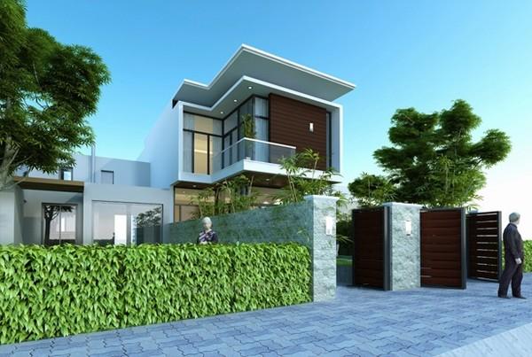 Thiết kế nhà phố 2 tầng đẹp tuyệt sắc tại Sài Gòn - 02