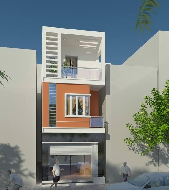 Thiết kế nhà phố 3 tầng đẹp mắt dành cho 5 người ở - 01