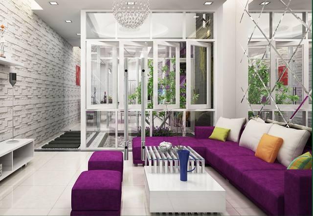 Thiết kế nhà phố 3 tầng mang sắc tím độc đáo - 02