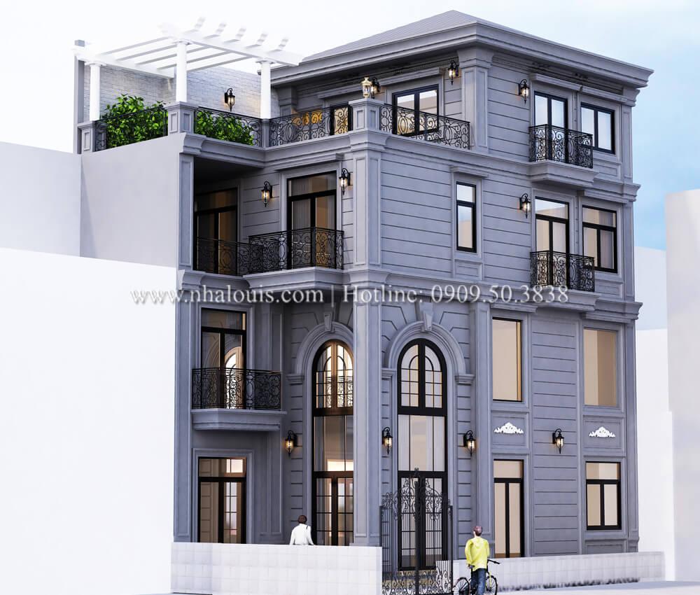 Thiết kế nhà phố bán cổ điển với gu màu lạ mắt 2017 tại Quận 4