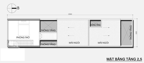 Thiết kế nhà phố 5,2m x 23m tiết kiệm chi phí với khoảng vườn xanh mát - 03