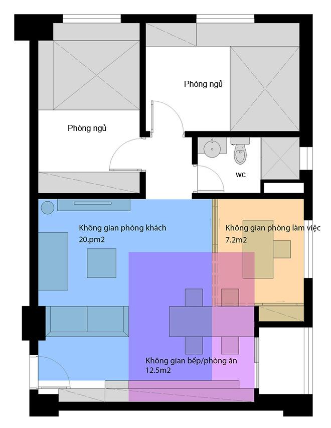 Thiết kế nhà trệt nội thất gỗ đơn giản với đầy đủ các không gian chức năng - 01