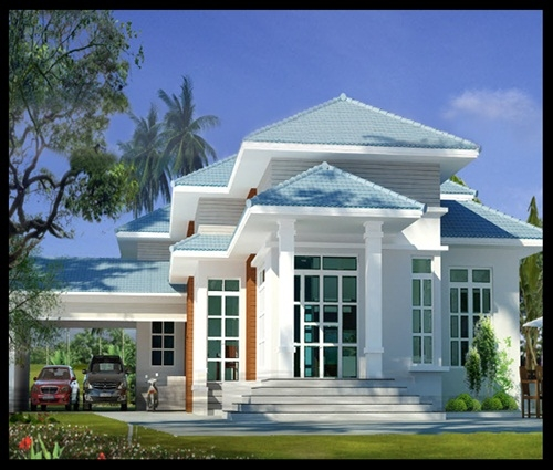 Thiết kế nhà trệt mái thái tại Bình Dương cực chất