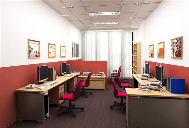 Những mẫu thiết kế nội thất văn phòng 20m2 đầy đủ tiện nghi - 02
