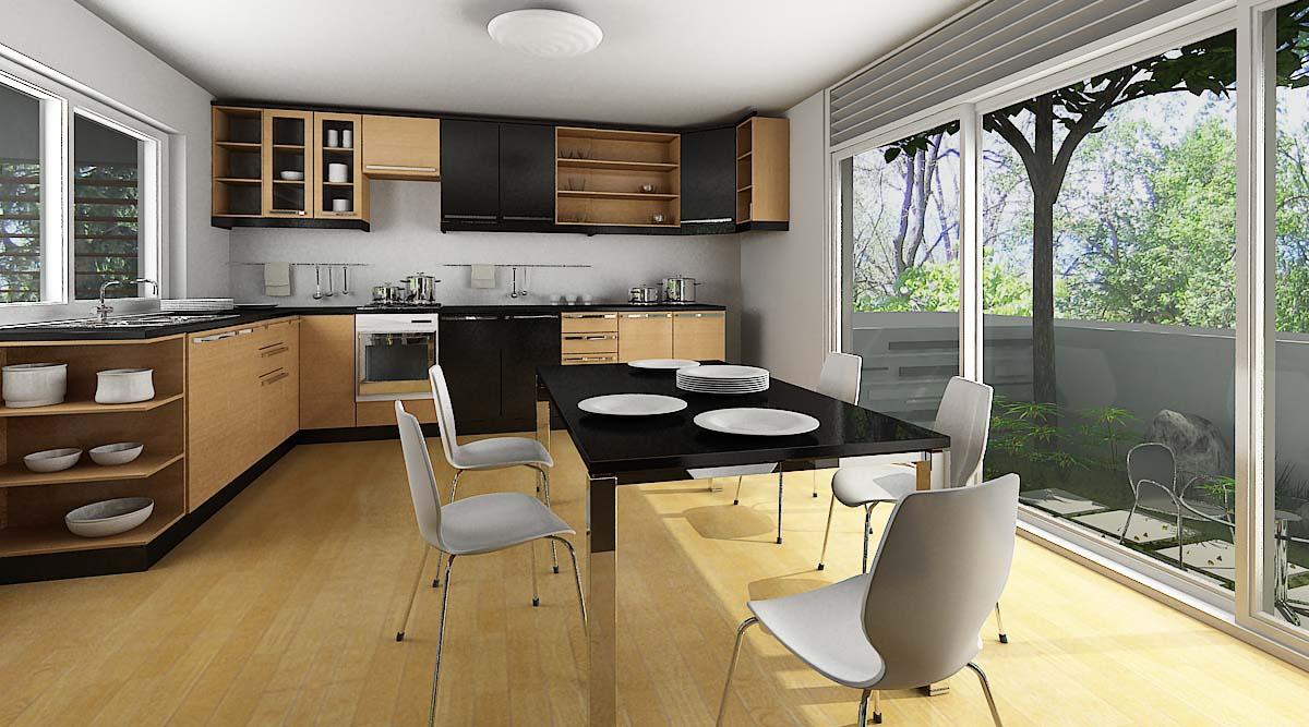 Thiết kế phòng bếp mở tuyệt đẹp cho ngôi nhà tiện nghi