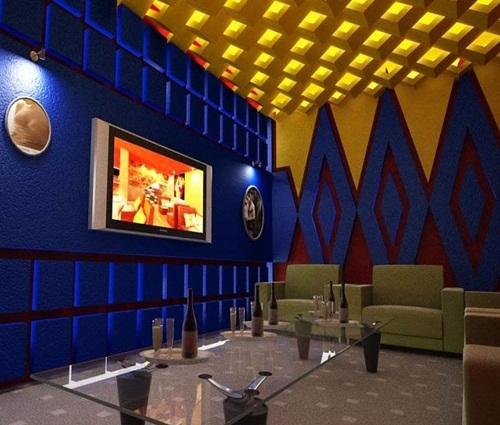 Thiết kế phòng karaoke sử dụng hiệu ứng hình học