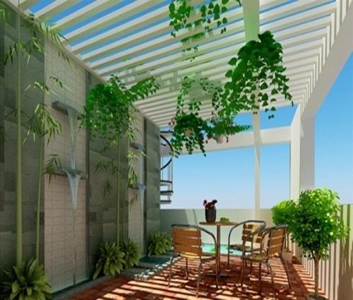 Thiết kế phòng sinh hoạt chung trên tầng thượng sáng tạo và khác biệt