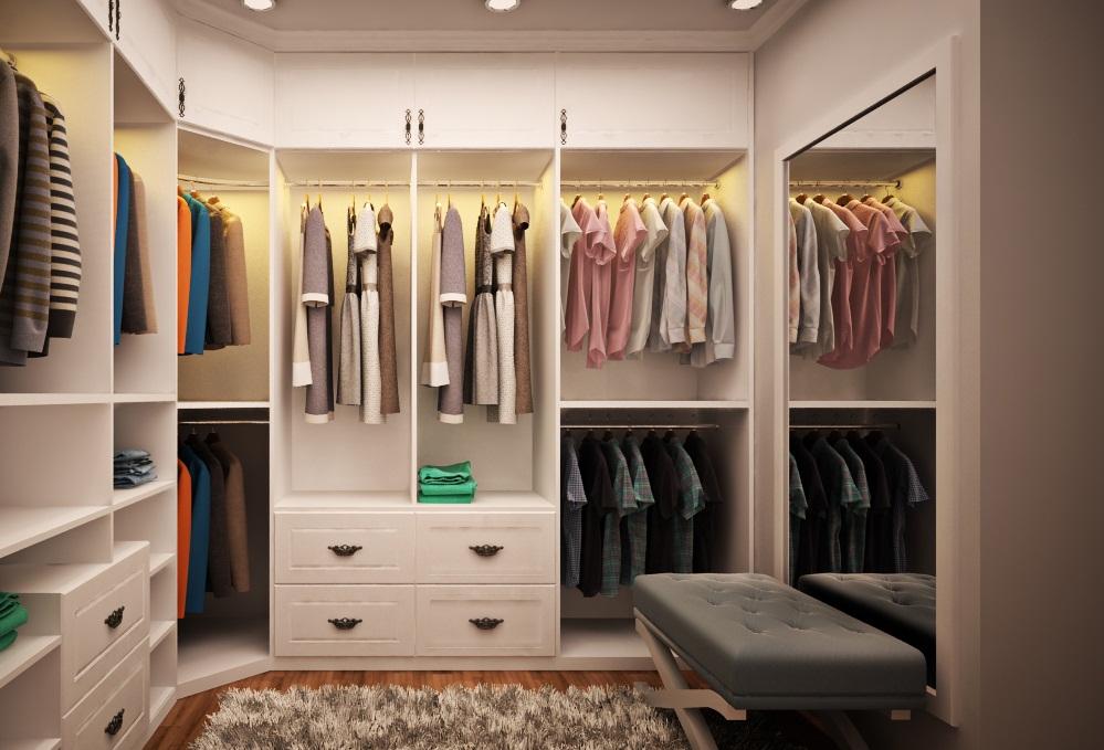 Thiết kế phòng thay đồ mini trong phòng ngủ