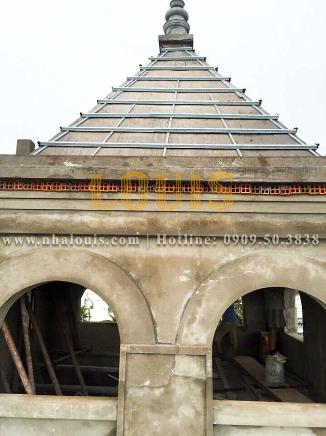 Thiết kế thi công biệt thự cổ điển kiểu Pháp tại Bạc Liêu