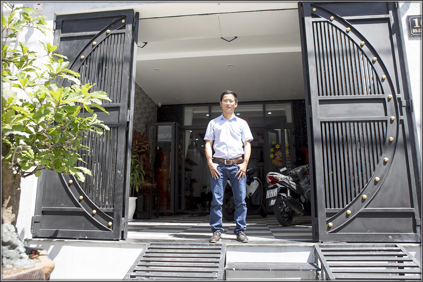 Thiết kế thi công nhà phố liền kề 5m x20m 3 tầng tại KDC Bình Phú quận 6 - 04