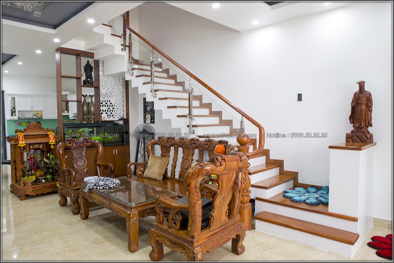 Thiết kế thi công nhà phố liền kề 5m x20m 3 tầng tại KDC Bình Phú quận 6 - 08