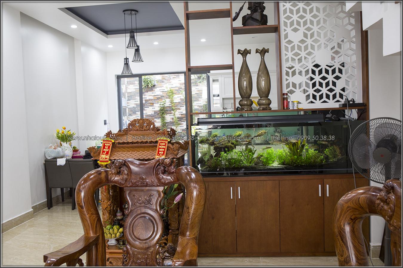 Thiết kế thi công nhà phố liền kề 5m x20m 3 tầng tại KDC Bình Phú quận 6 - 12