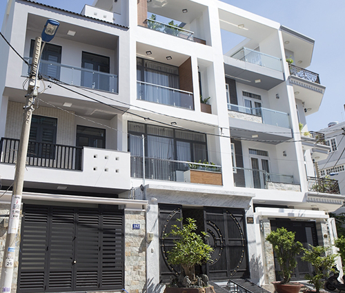 Thiết kế thi công nhà phố liền kề 5m x20m 3 tầng tại KDC Bình Phú quận 6