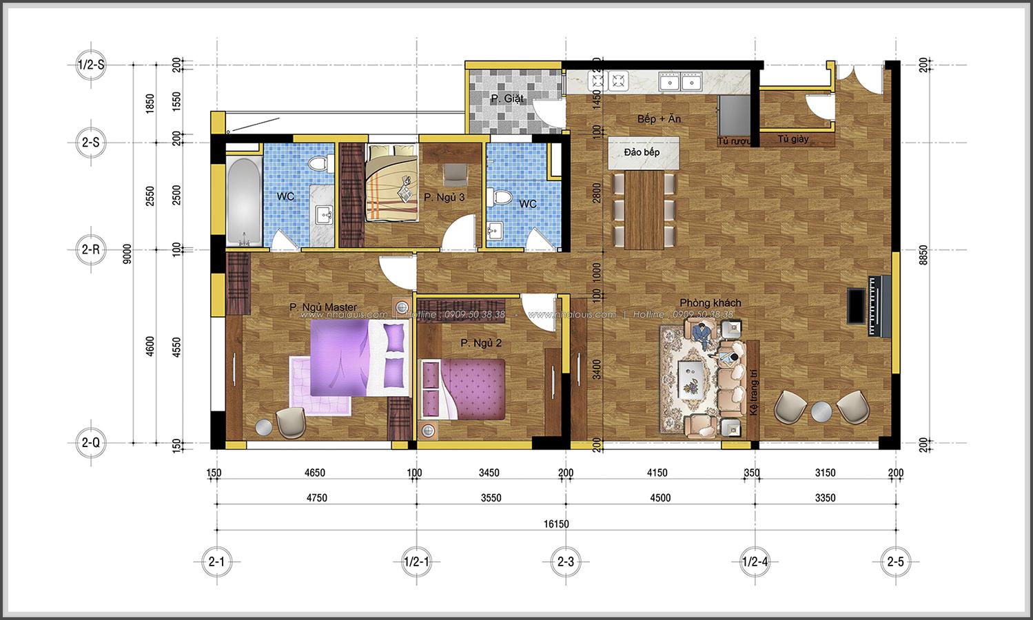 Thiết kế thi công nội thất căn hộ cao cấp Happy Valley quận 7 - 02