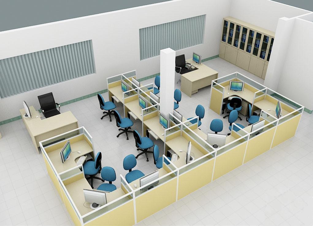 Thiết kế văn phòng có diện tích nhỏ không bị bí bách - 01