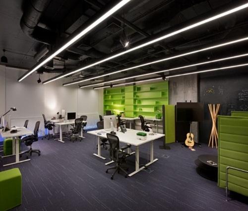 Thiết kế văn phòng giống bộ vi xử lý máy tính mới lạ và độc đáo