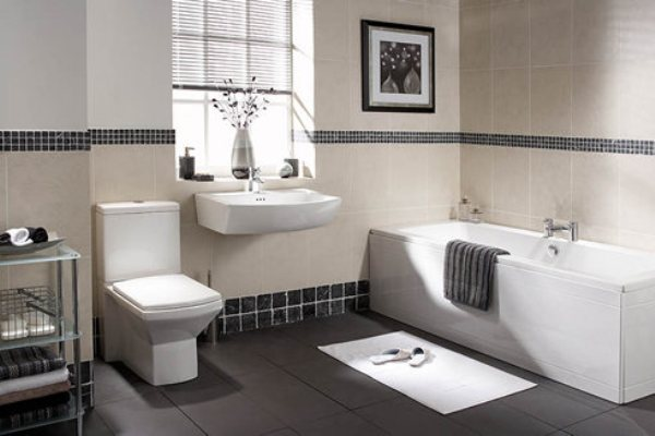 Thiết kế WC có bồn tắm sang trọng