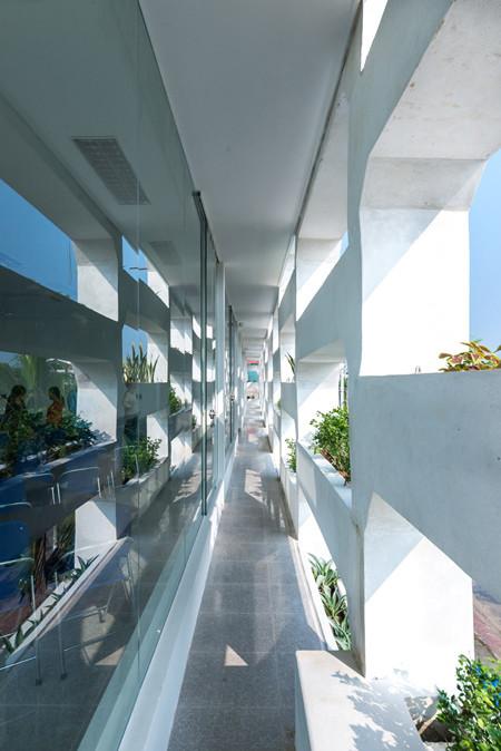 Tòa nhà văn phòng xanh mát tại Hà Tĩnh