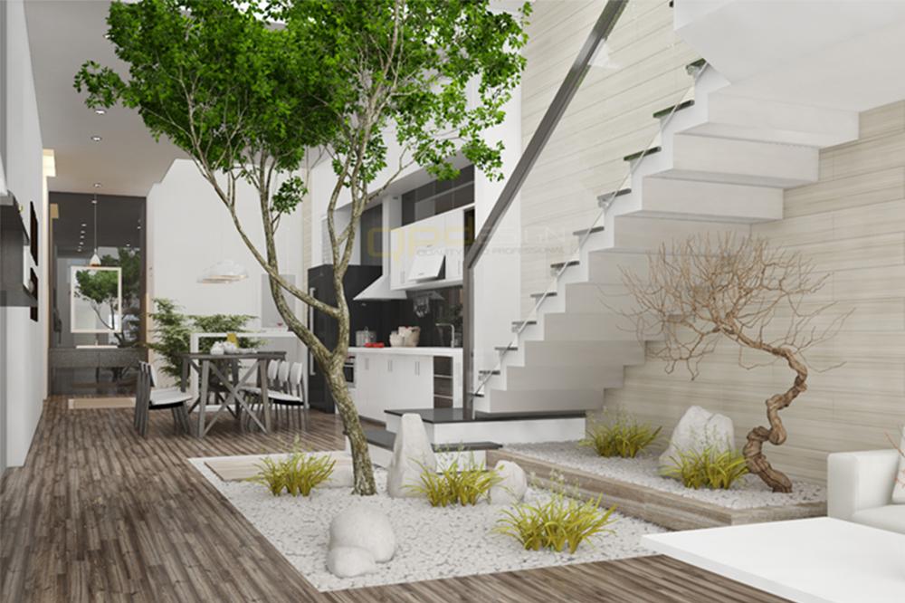 Tư vấn thiết kế cho nhà siêu rộng ở mặt đường hợp với mệnh Hỏa và tiết kiệm chi phí