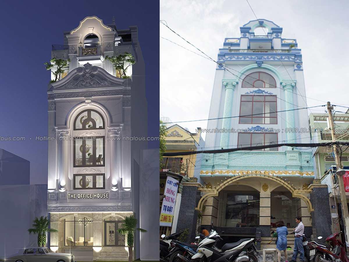 Vẻ đẹp đẳng cấp công trình nhà ở kết hợp văn phòng cho thuê ở Tân Bình