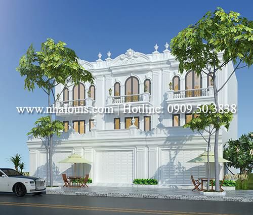 Thiết kế nhà liền kề đẹpphong cách tân cổđiển tại Bình Dương