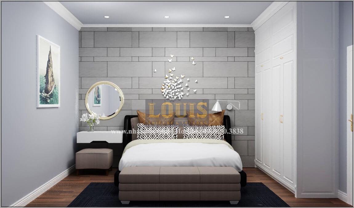 Phòng ngủ thiết kế nhà liền kề đẹpcổđiển liền kề tại Bình Dương