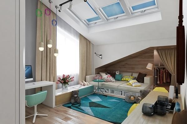 """""""Lịm tim"""" với không gian phòng ngủ trẻ em rực rỡ sắc màu"""