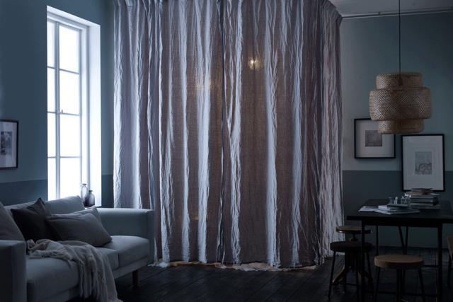 Nới rộng không gian ngôi nhà bằng những chiếc rèm cửa độc đáo