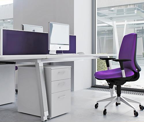 Nội thất văn phòng màu tím cho không gian làm việc thêm duyên