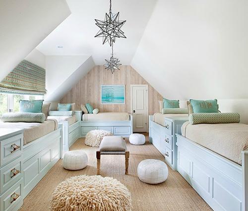 Biến tầng gác mái thành không gian sống thoải mái và ấn tượng