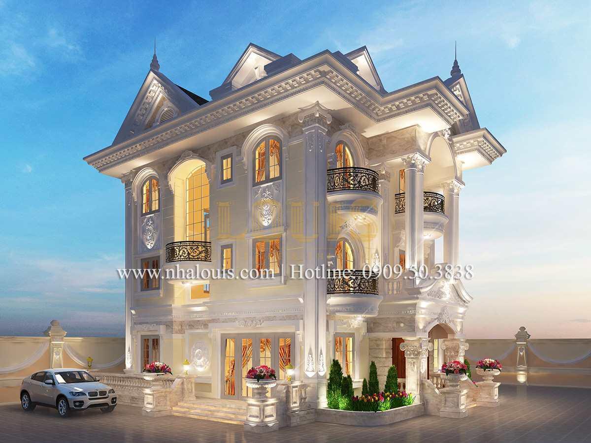 Mặt tiền Cải tạo biệt thự cũ thành biệt thự hiện đại đẹp lung linh tại Bình Chánh