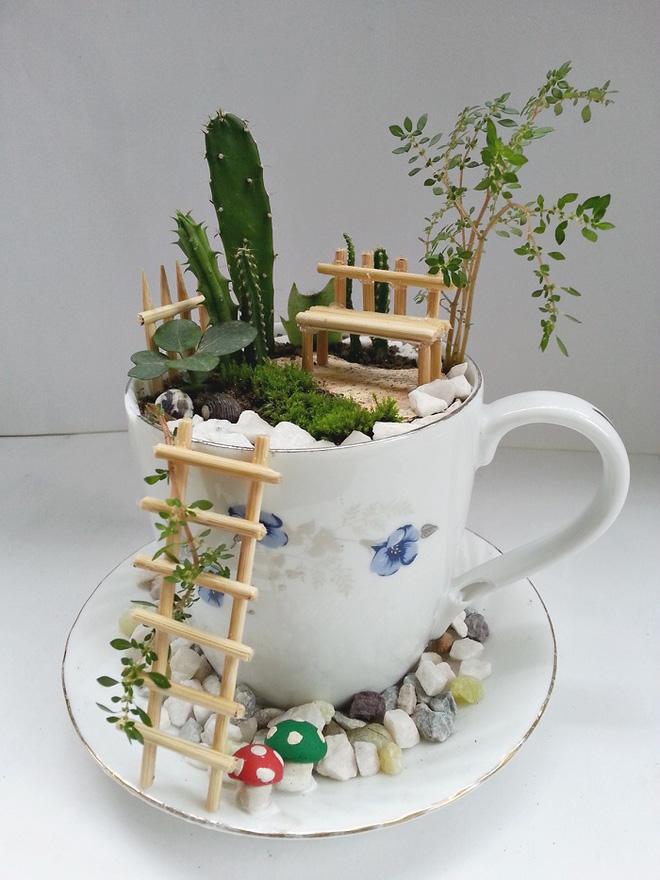 Tạo tiểu cảnh với tách trà độc đáo, tại sao không