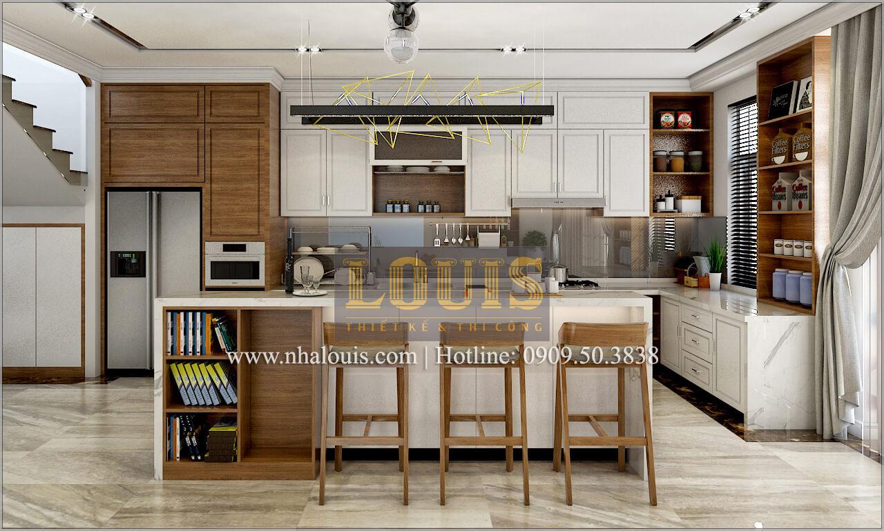 Phòng bếp và quầy bar Thiết kế biệt thự phong cách cổ điểnđẹp kết hợp kinh doanh tạiĐồng Nai