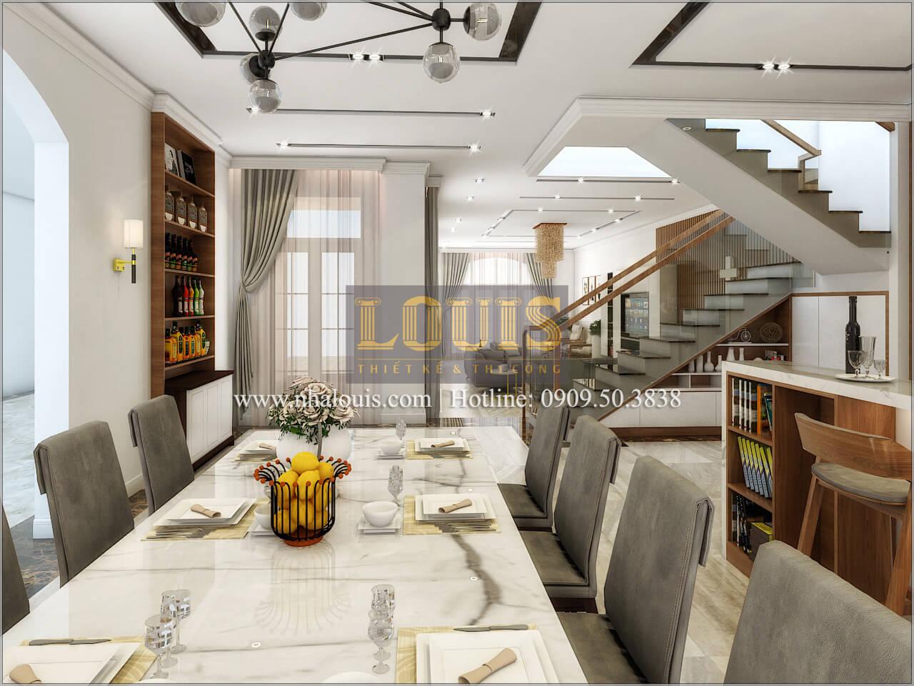 Phòng bếp Thiết kế biệt thự phong cách cổ điểnđẹp kết hợp kinh doanh tạiĐồng Nai