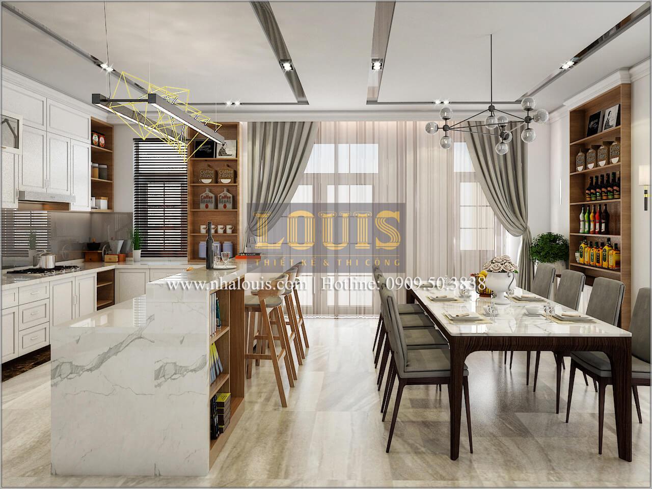 Phòng bếp và phòng ăn Thiết kế biệt thự phong cách cổ điểnđẹp kết hợp kinh doanh tạiĐồng Nai
