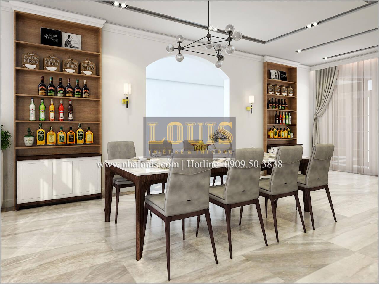 Phòng ăn Thiết kế biệt thự phong cách cổ điểnđẹp kết hợp kinh doanh tạiĐồng Nai
