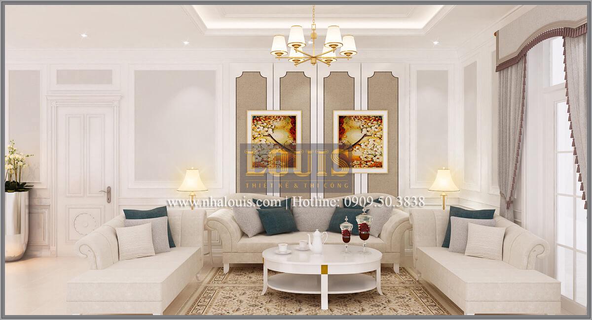 Phòng sinh hoạt chung Thiết kế biệt thự phong cách cổ điểnđẹp kết hợp kinh doanh tạiĐồng Nai