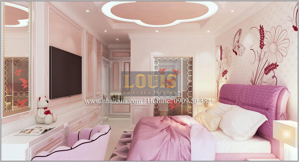 Phòng ngủ con gái Thiết kế biệt thự phong cách cổ điểnđẹp kết hợp kinh doanh tạiĐồng Nai