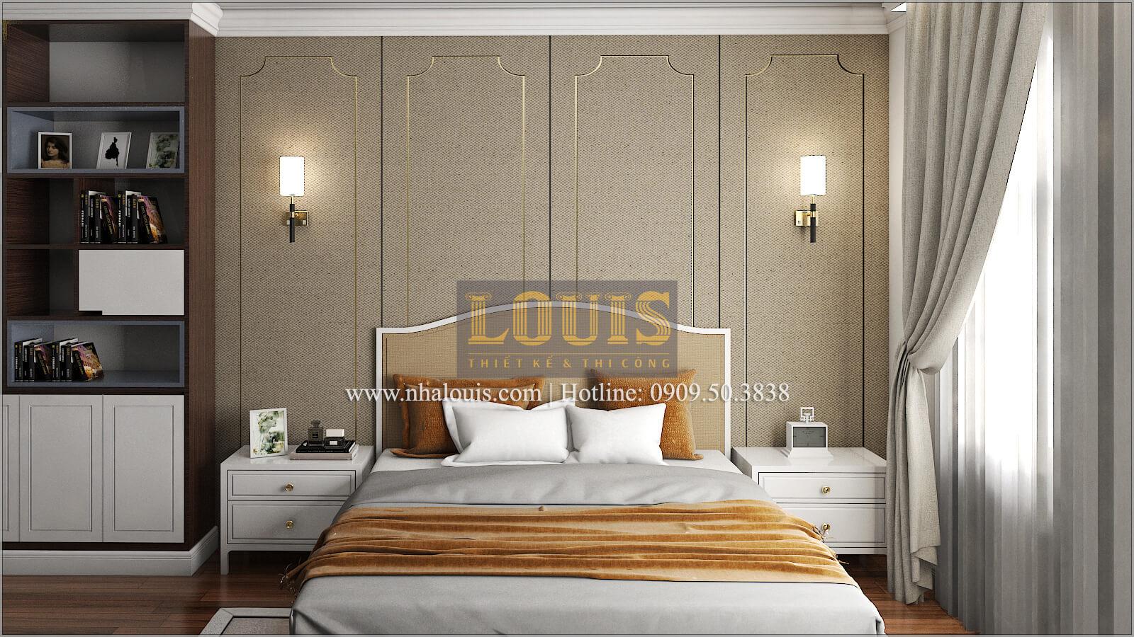 Phòng ngủ master Thiết kế biệt thự phong cách cổ điểnđẹp kết hợp kinh doanh tạiĐồng Nai